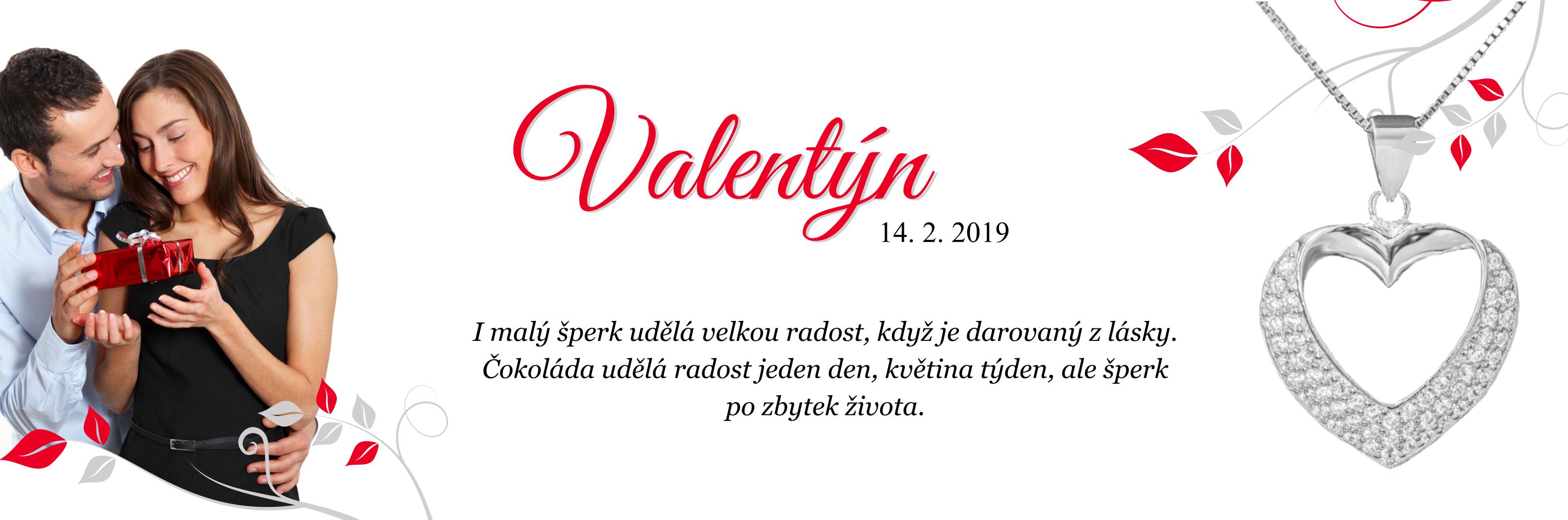 Valentýn - čokoláda uděla radost jeden den, květina týden, ale šperk navždy