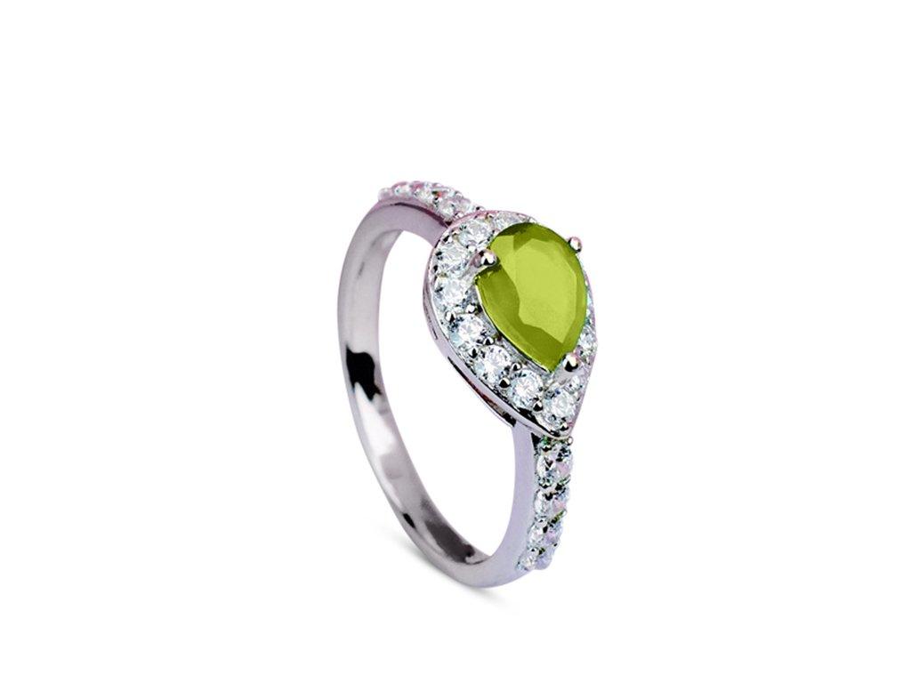 prsten s olivínem