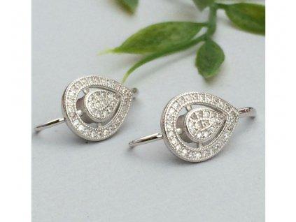 STŘÍBRNÉ NÁUŠNICE SE ZIRKONY KAPKA K01  krásný elegantní dárek pro každou ženu. Šperk je věčný.