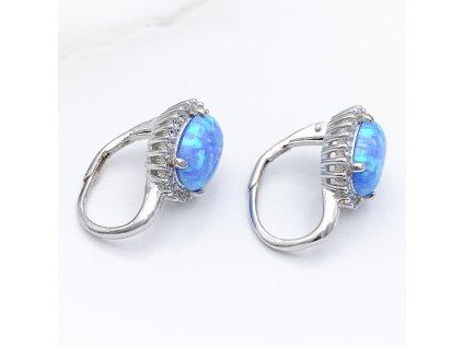 opal modry oval III