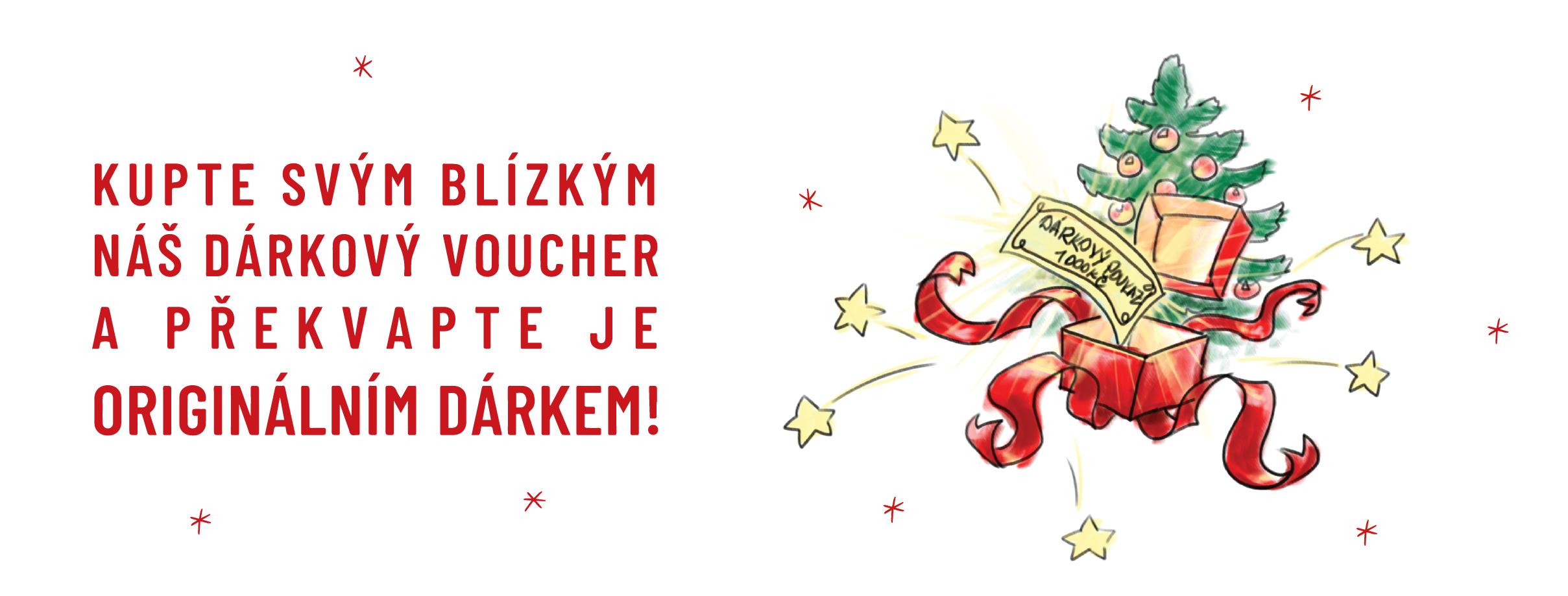Kupte svým blízkým náš dárkový voucher!
