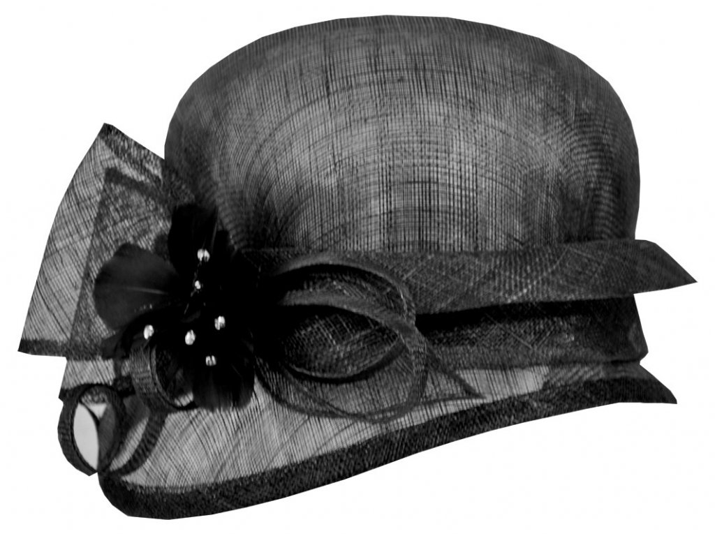 2 cerny slavnostni klobouk