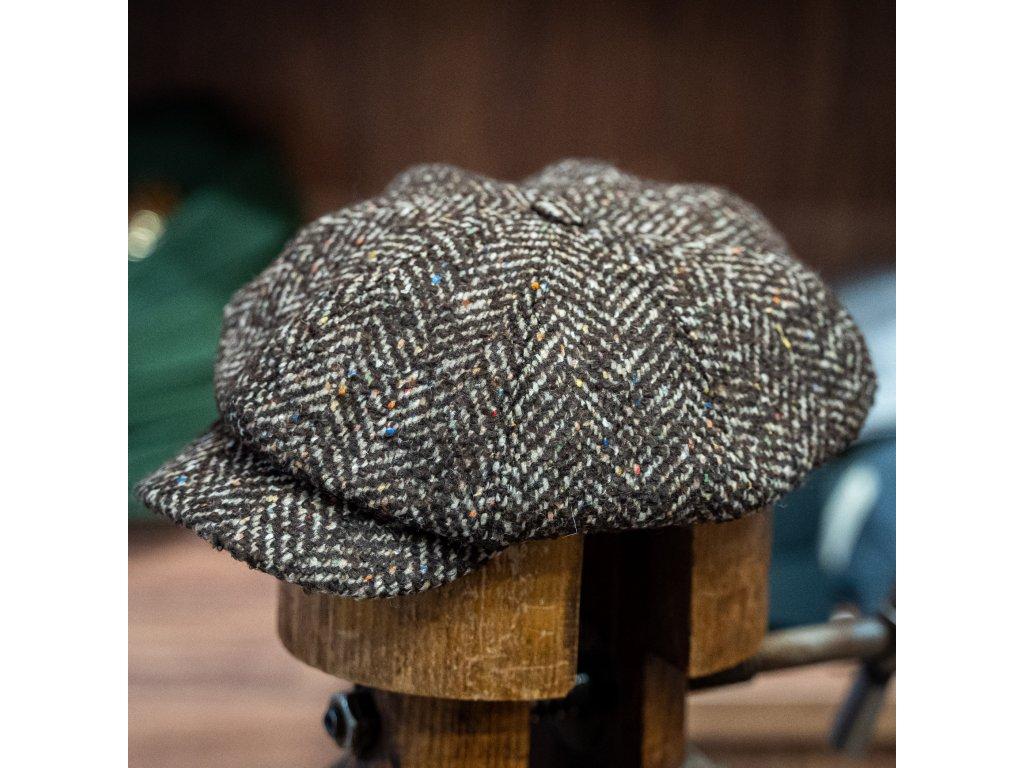 Hnědá tvídová bekovka - Carlsbad Hat Co.
