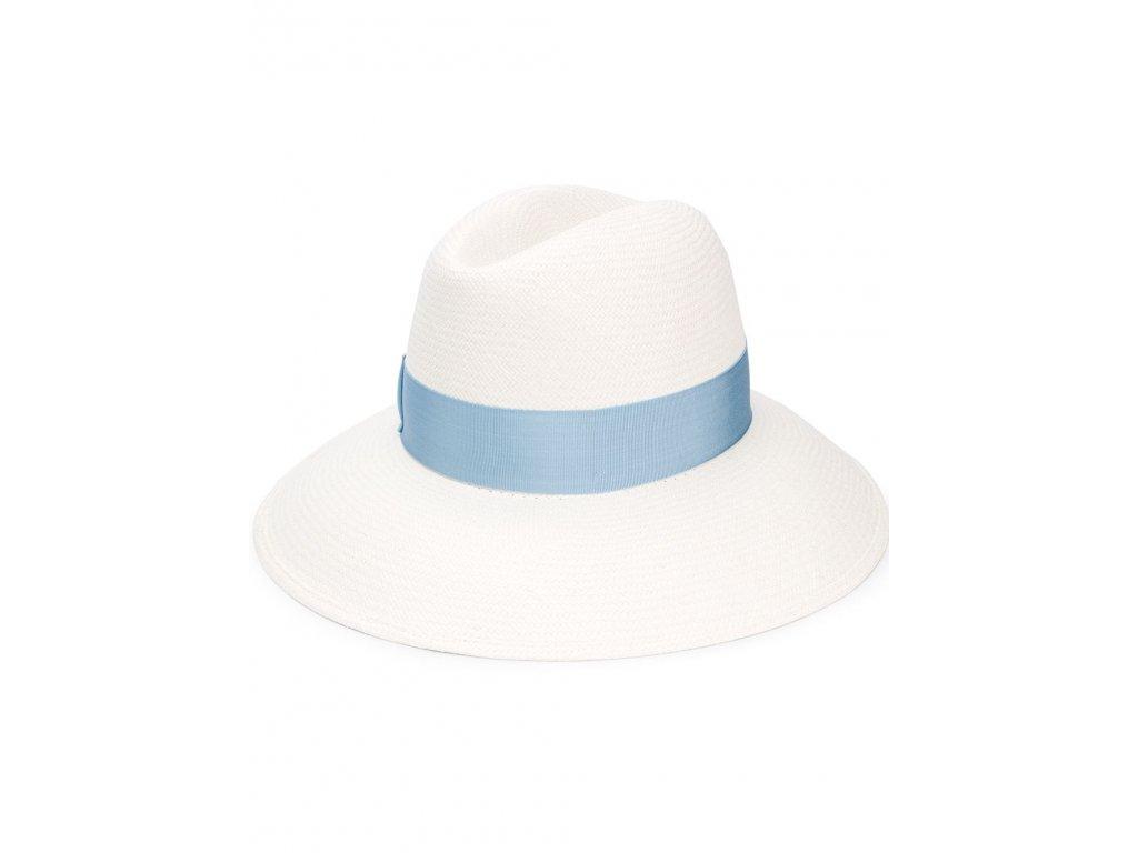 Klobouk Claudette cannete - Borsalino - světlé modrá stuha