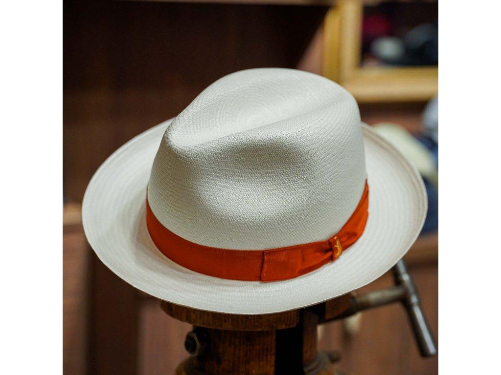 Panamský klobouk - střední krempa od Borsalino - Medium-brimmed Fine Panama - hnědá stuha
