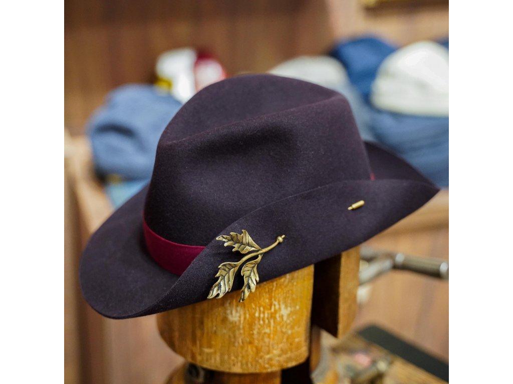 Dámský fedora klobouk - Art Nouveau medium brim - limitovaná kolekce Borsalino -  luxusní klobouk Borsalino