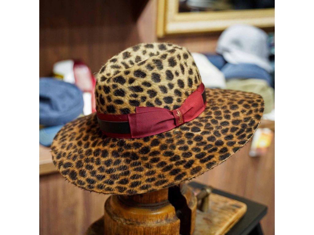 Leopard-skin Sophie -dámský klobouk Borsalino