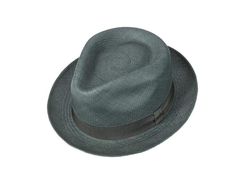 Letní klobouk Fedora ručně pletený zelená Player Panama3