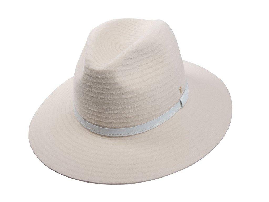 Dámský béžový klobouk od Tonak - 12781/18 Fedora Espirit Panter