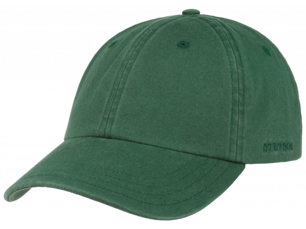 Bavlněná klasická kšiltovka Stetson - Baseball Cap Cotton - zelená