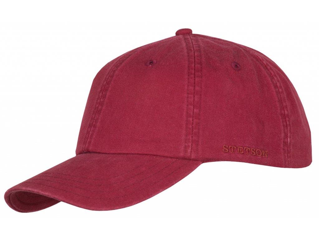 Bavlněná klasická kšiltovka Stetson - Baseball Cap Cotton - červená