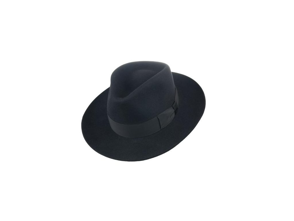 13865 Q9030 3 pansky plsteny klobouk cerny
