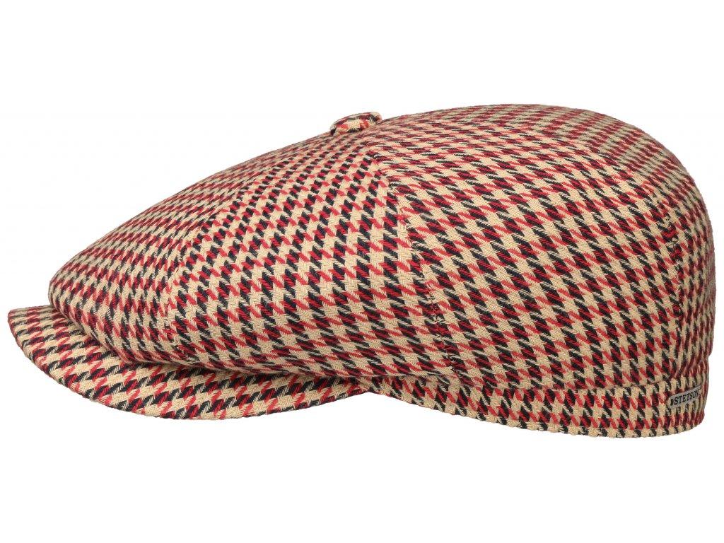 Letní kostkovaná bekovka hatteras od Stetsonu Bavlna/Len 6841205