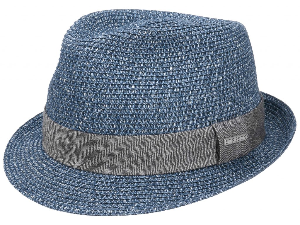 Slaměný modrý letní klobouk Trilby Toyo - Stetson - 1238534