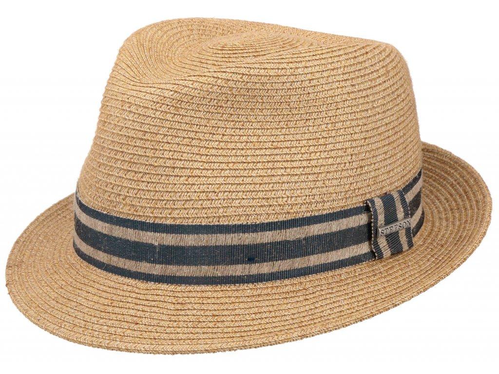 Lněný letní klobouk od Stetson - Player Linen Mix 1398503
