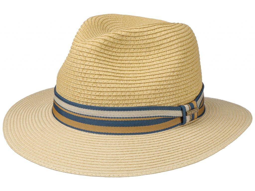 Letní béžový fedora klobouk od Stetson - Traveller Toyo - béžový /2478520