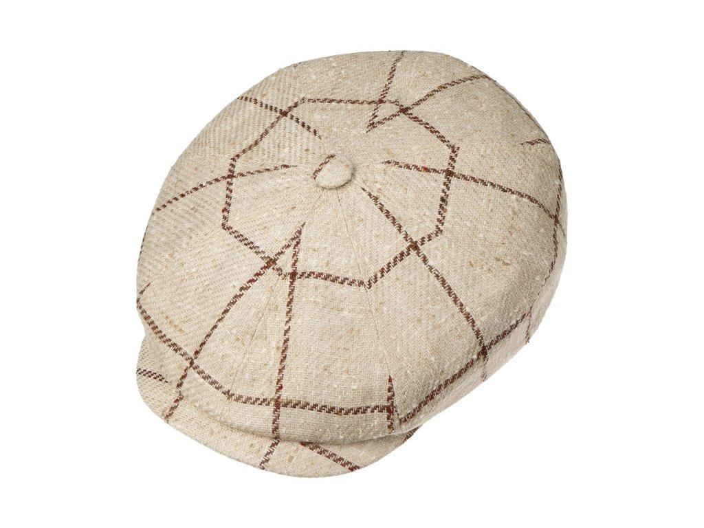 Hatteras Silk Wool Check Flat Cap by Stetson.55467 1pf15