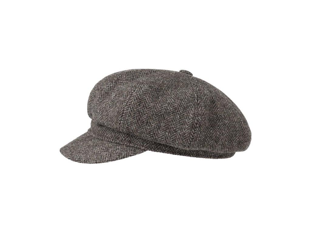 Newsboy cap Stetson Herringbone 6860501 hnědá1