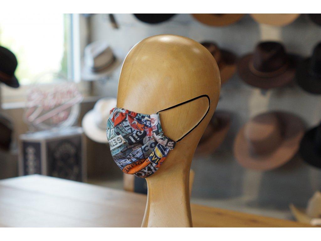 Pánská bavlněná rouška Stetson - open road kolekce