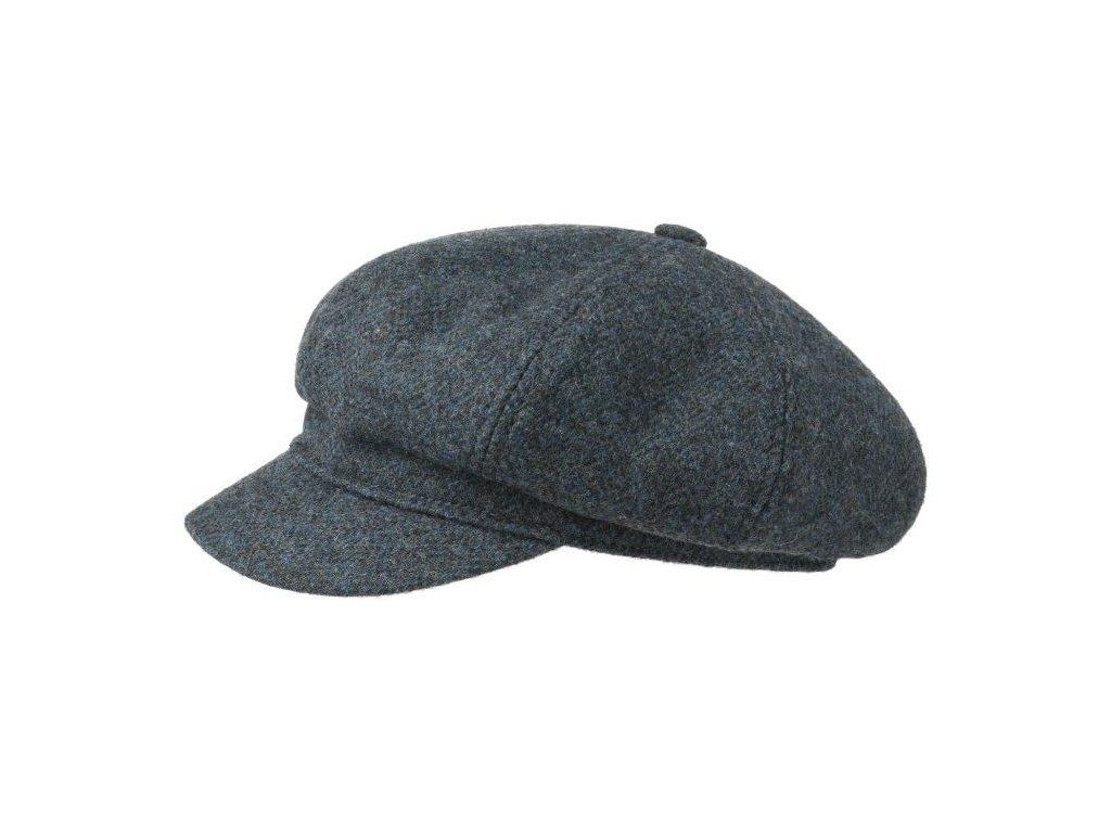 Newsboy cap Stetson Herringbone 6860501 modrá