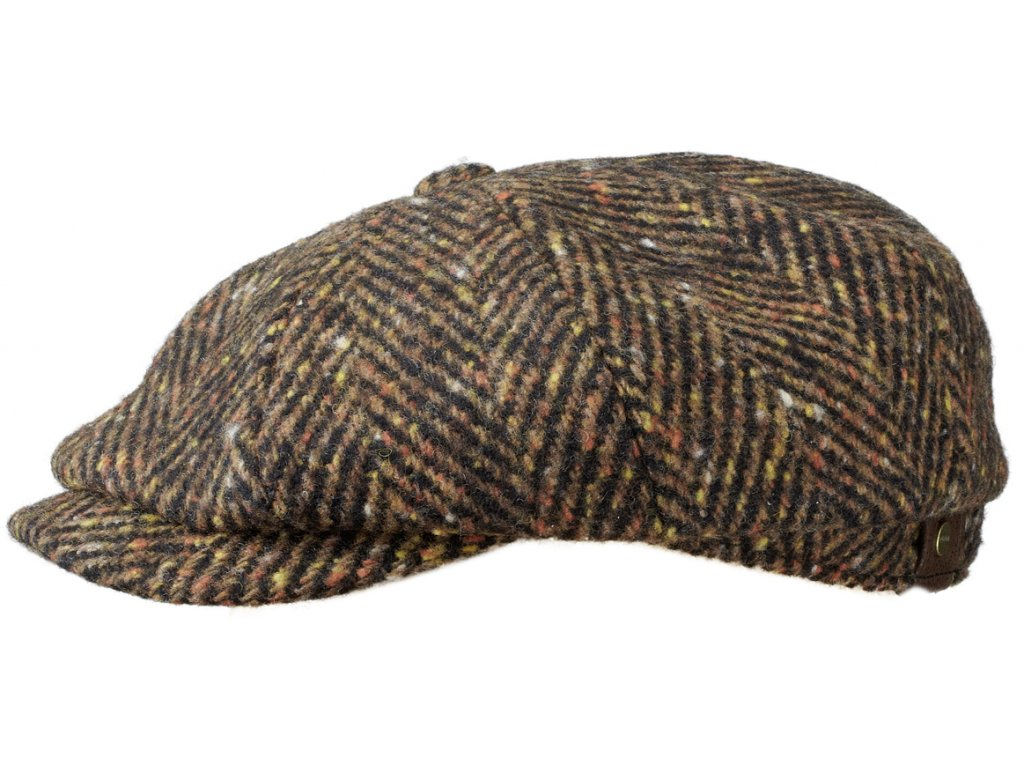Vlněná bekovka Hatteras od Stetson 6840502  100 % vlna -hnědý tvíd