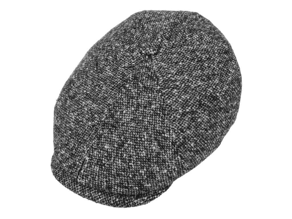 Zimní vlněná šedá bekovka od Stetson tvídová bekovka 6 panel 6640601