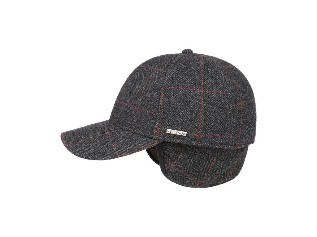 Vlněná klasická šedooranžová kšiltovka Stetson Baseball Cap wool 7720501