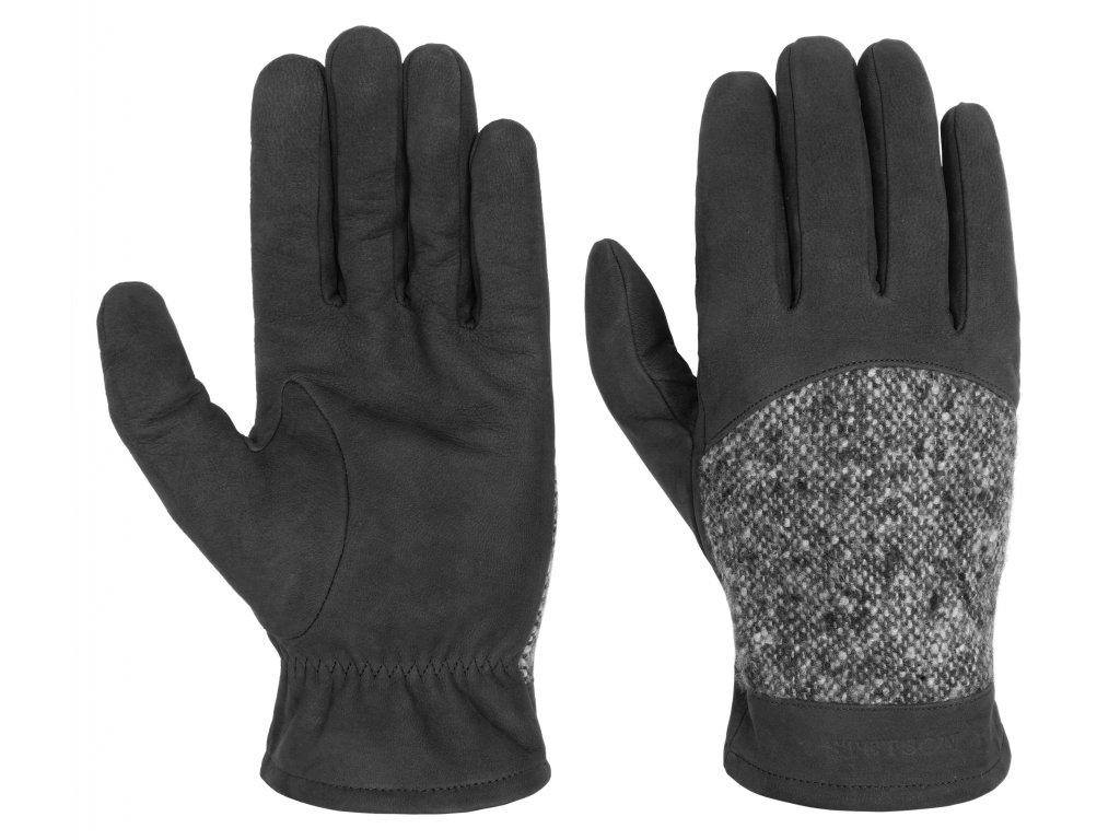 cerne rukavice panske zimni STETSON