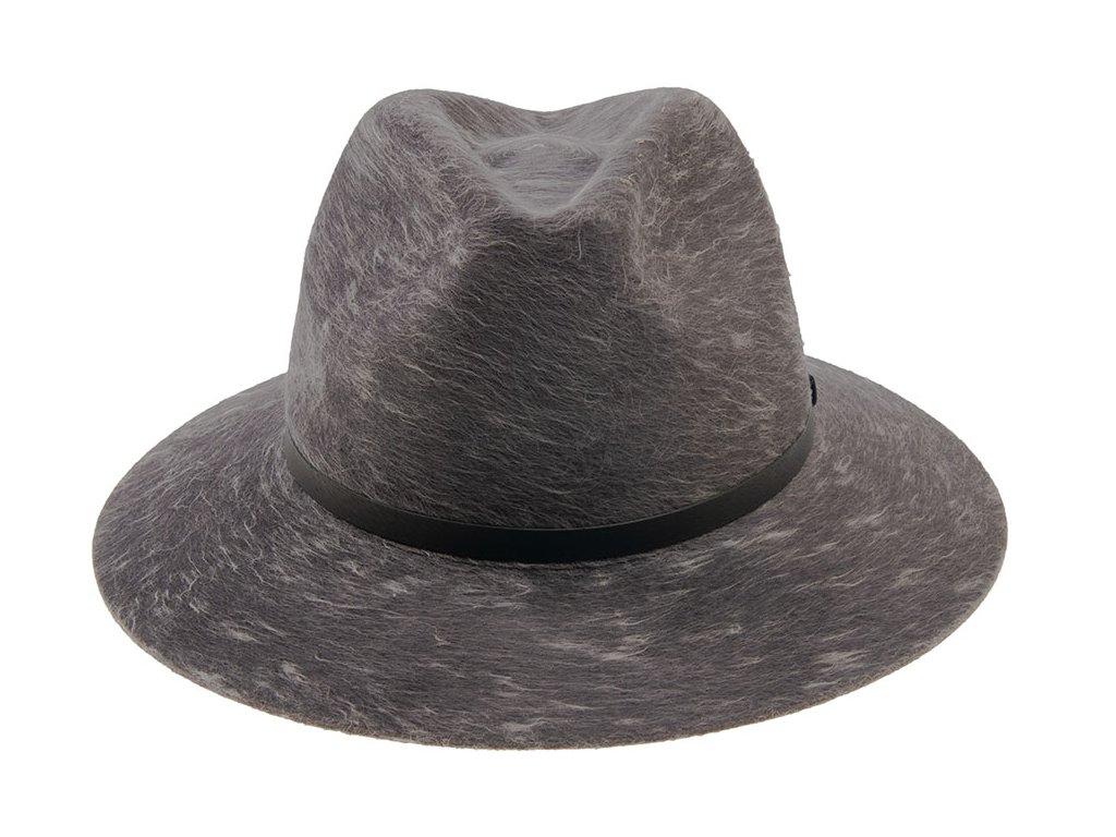 Tmavě šedý plstěný klobouk od Tonak - 12552/17 Fedora Orio Uni