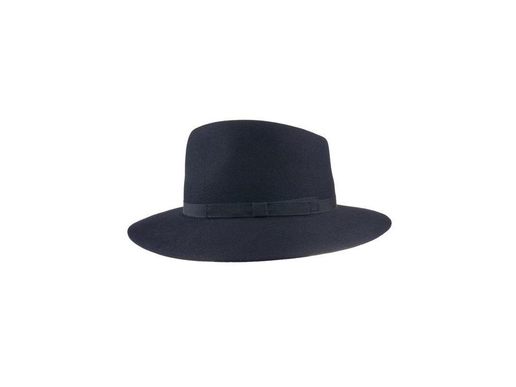 Tmavě modrý plstěný fedora klobouk od Tonak 12766 š