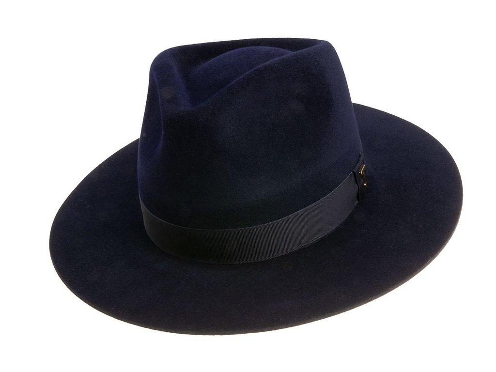 Klasický modrý plstěný klobouk Tonak 12601/18