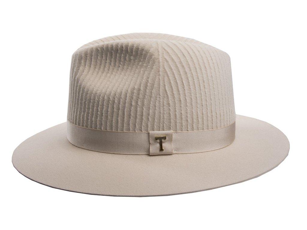 Dámský béžový klobouk fedora Tonak 3