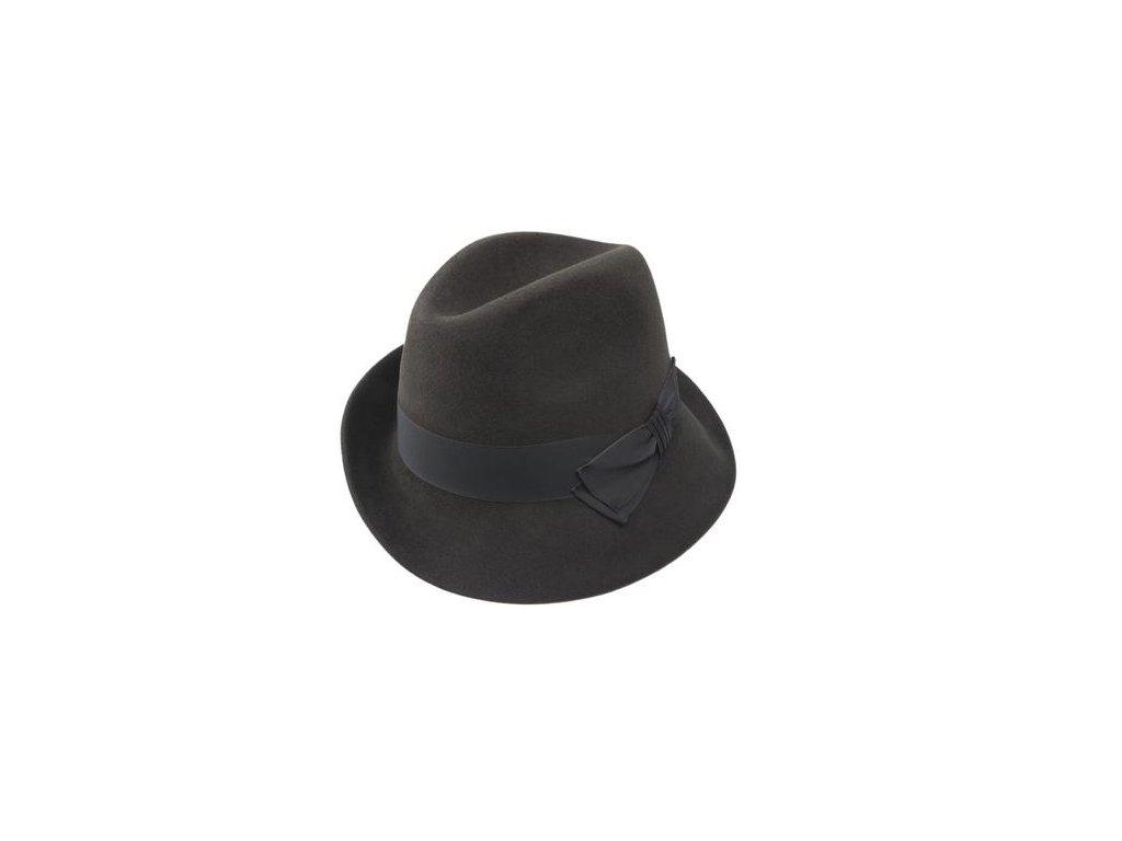 Asymetrický zámišový klobouk hnědý Tonak - 53152/16