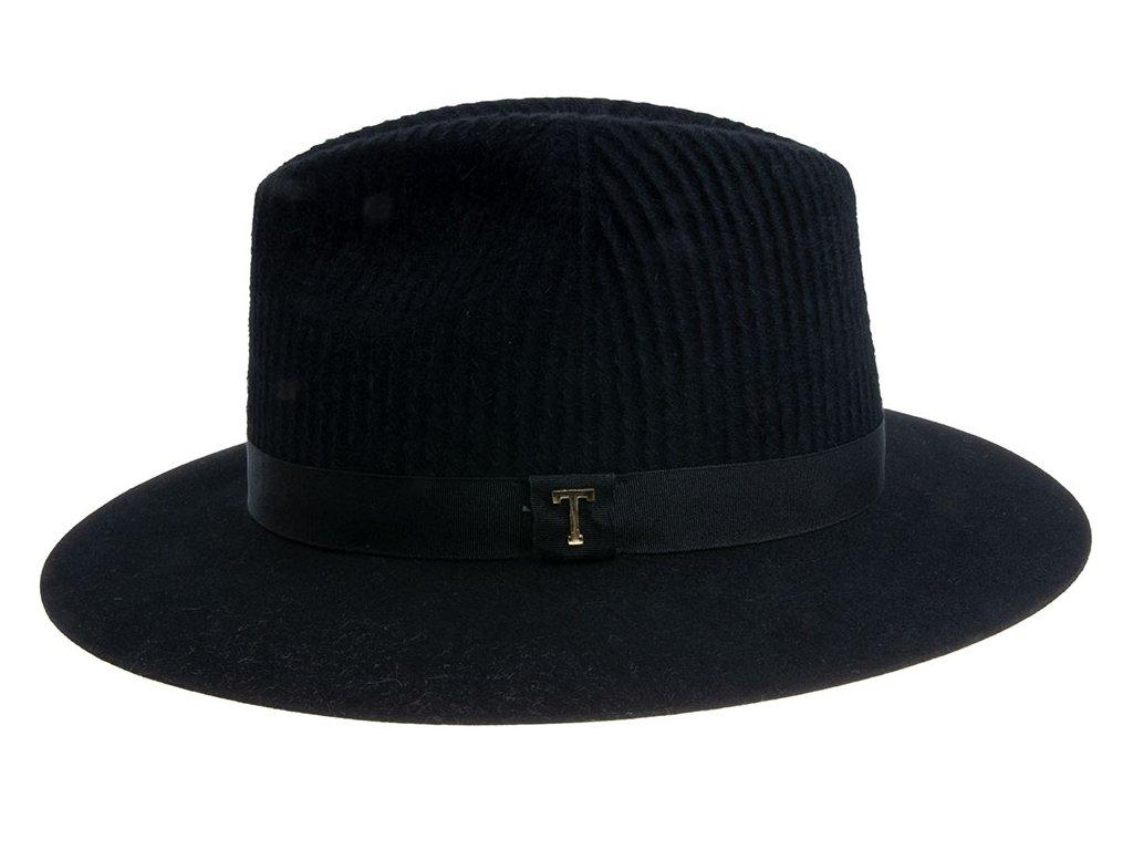 Dámský černý klobouk fedora Tonak