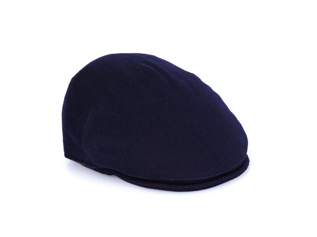 Modrá kašmírová bekovka Alfonso d'Este - 100 % kašmír - 25705