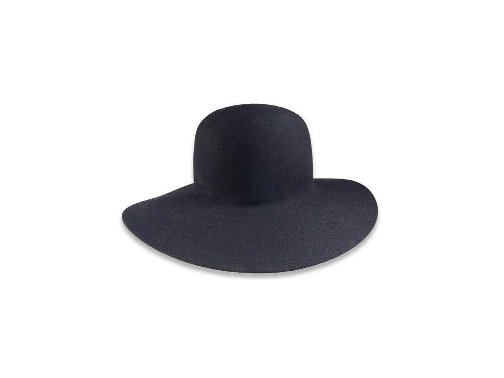 Modrý klobouk Tonak s širokou krempou  52924/15