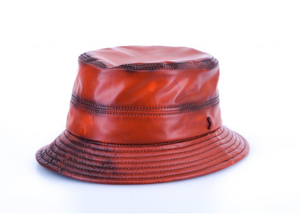 Bucket hat Alfonso d´Este  - podzimní  hnědý nepromokavý klobouk - 24778