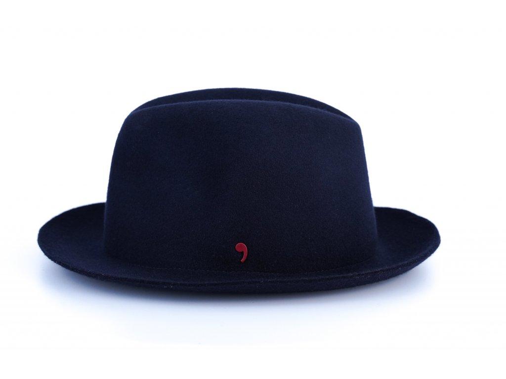 Unisex tmavěmodrý klobouk Alfonso d´Este 25691