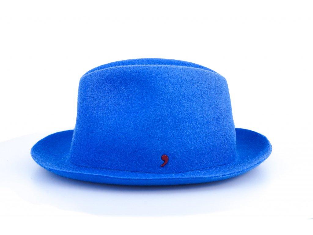 Unisex klobouk fedora Alfonso d´Este 25691 - královská modrá