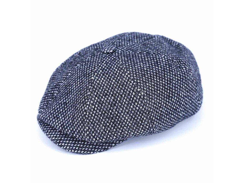 Zimní šedá vlněná bekovka - Carlsbad Hat Co.