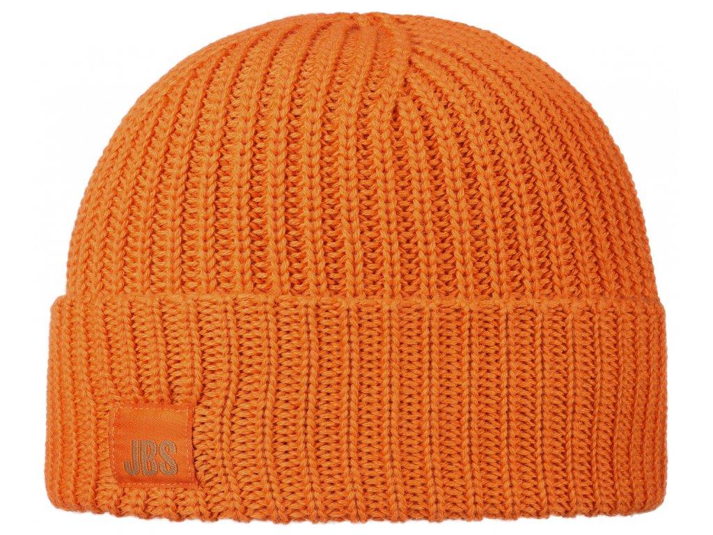 Oranžová vlněná čepice Stetson vlna merino 8599344