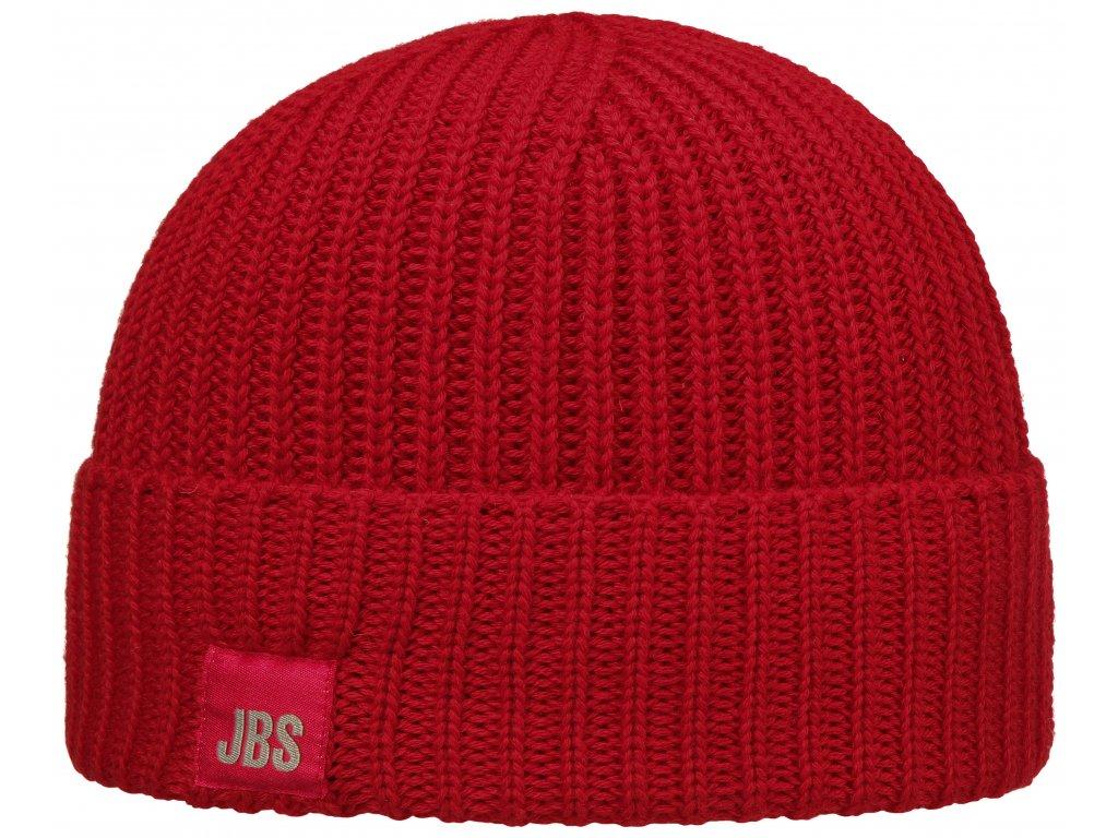 Červená vlněná čepice Stetson vlna merino 8599344