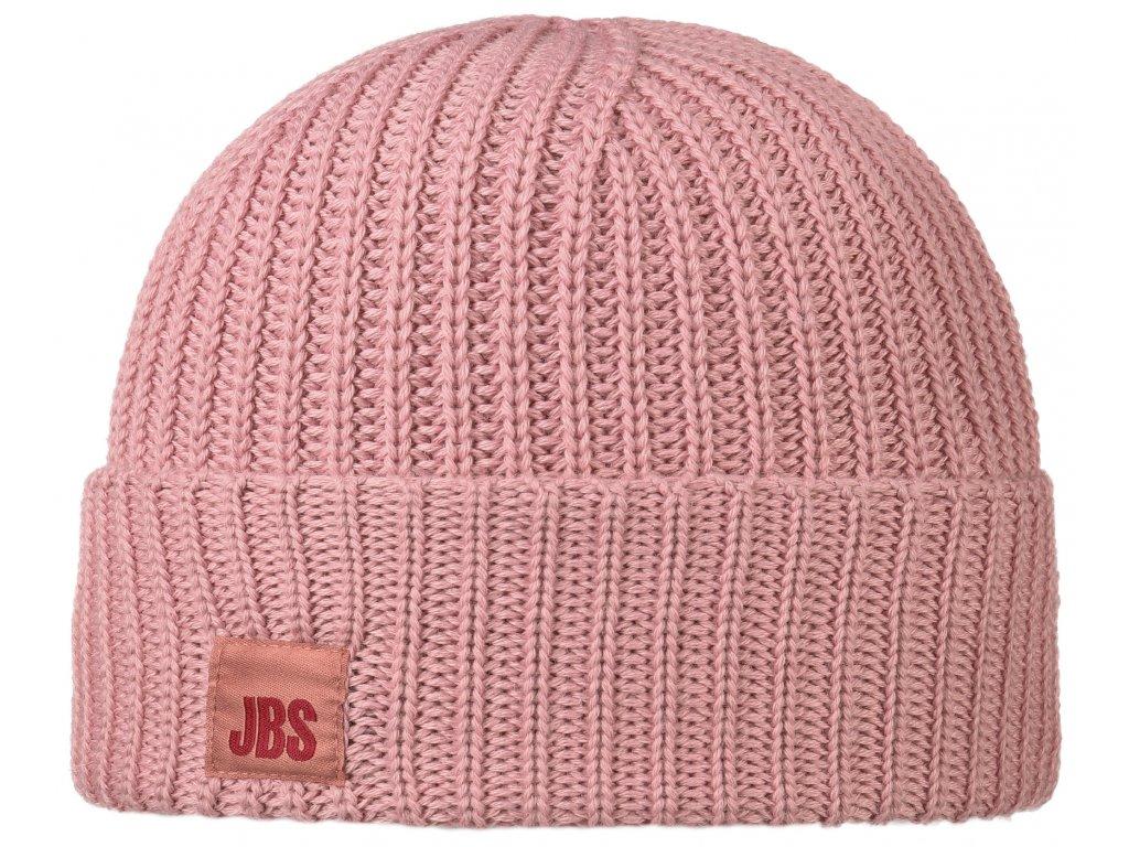 Růžová vlněná čepice Stetson - vlna merino  -  8599344