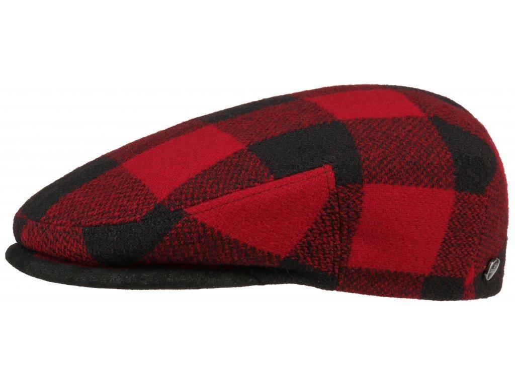 Červeno černá kostka pánská bekovka Lierys (ušní klapky) vlna 6210310