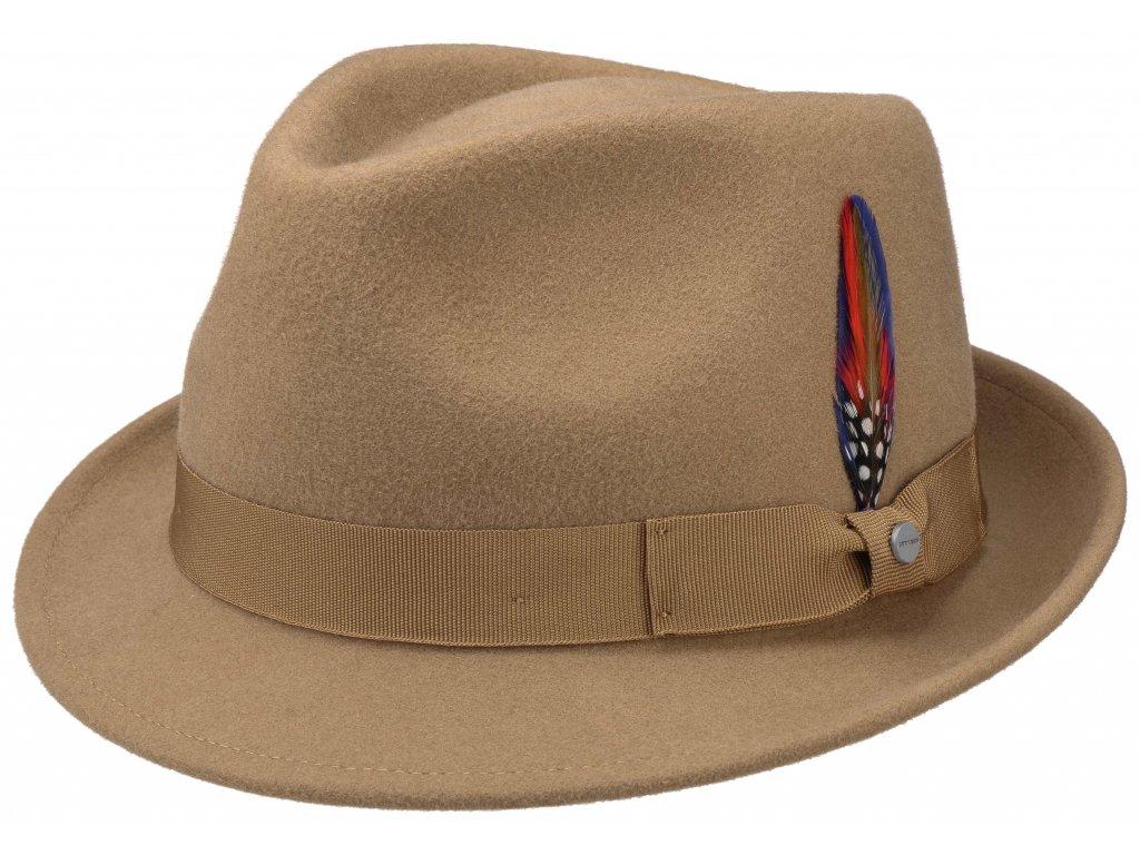 Trilby klobouk vlněný Stetson 1238103 béžový s béžovou stuhou
