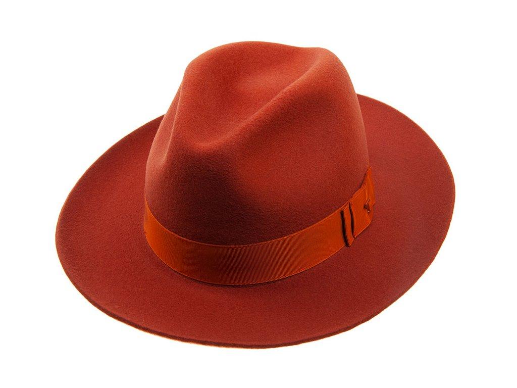 Oranžový plstěný klobouk Tonak 53353/17