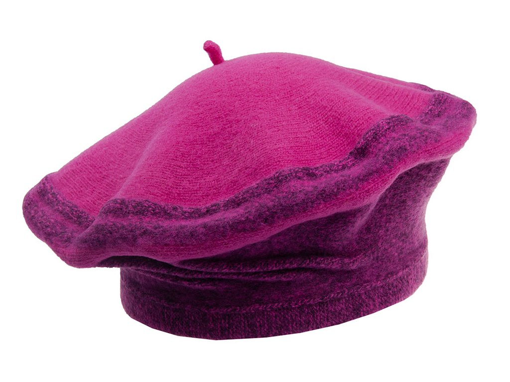Dámský růžový vlněný baret -  Foruket Tonak
