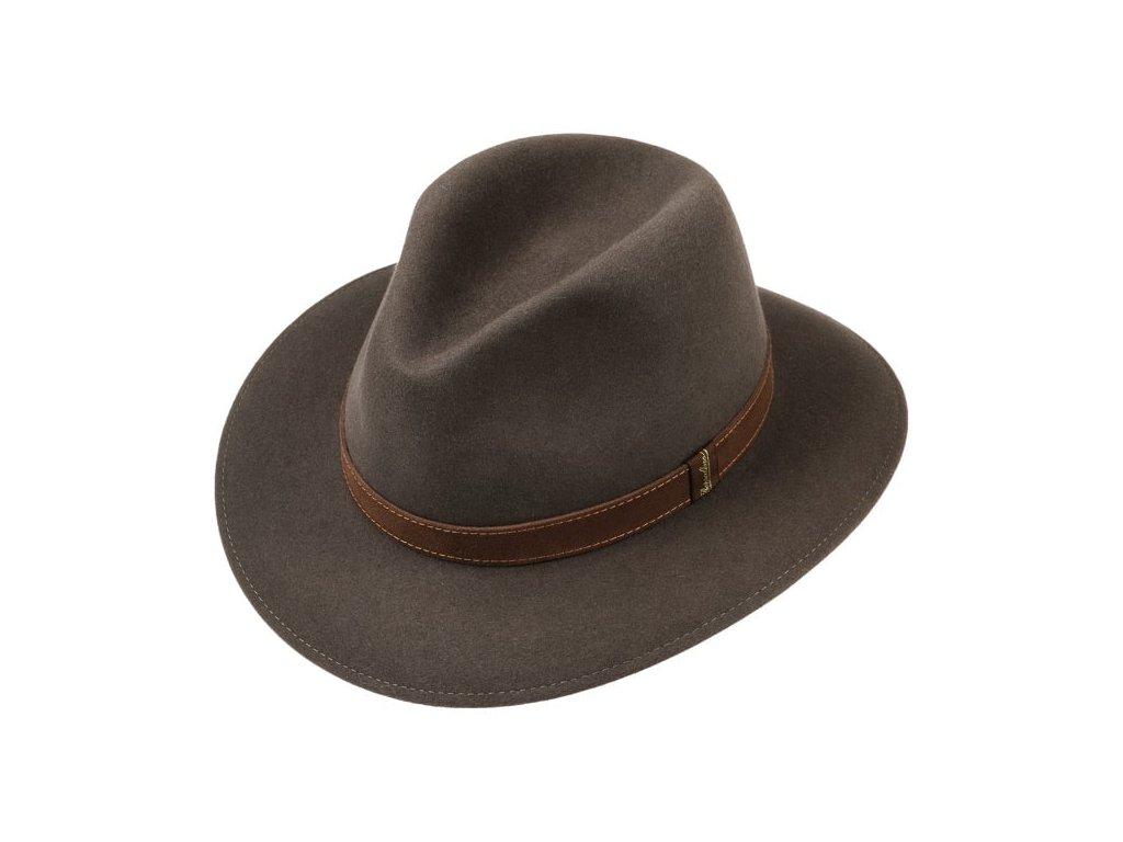 hnedy klobouk borsalino 2