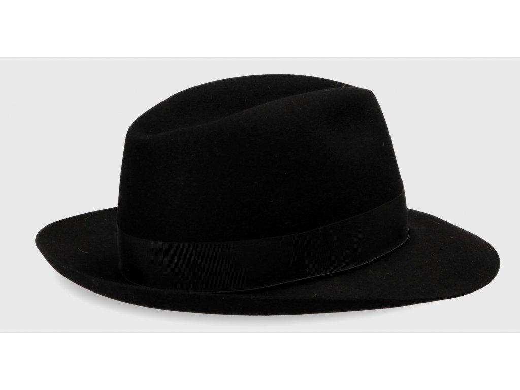50 gr cerny luxusní klobouk borsalino