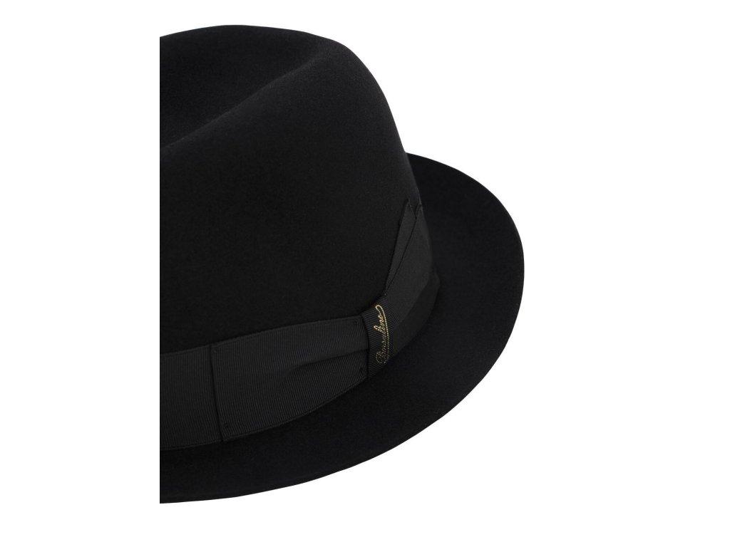 borsalino black Chapeau En Feutrine Alessandria